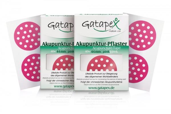 2 Schachteln Akupunkturtape runde Gatapex Akupunkturpflaster 2 x 40 Stück rund pink