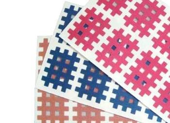 120 kleine Gatapex Gitter-Tapes - je 40 Tapes in beige, pink und blau ( 2.1 cm x 2.7 cm)