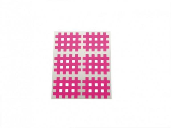 Gatapex Akupunkturpflaster pink (6 Gittertapes, 2,8 cm x 3,6 cm)