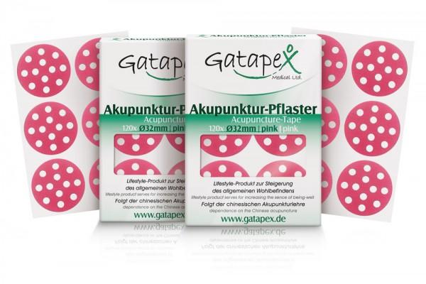 2 Schachteln Akupunkturtape runde Gatapex Akupunkturpflaster 2 x 120 Stück rund pink