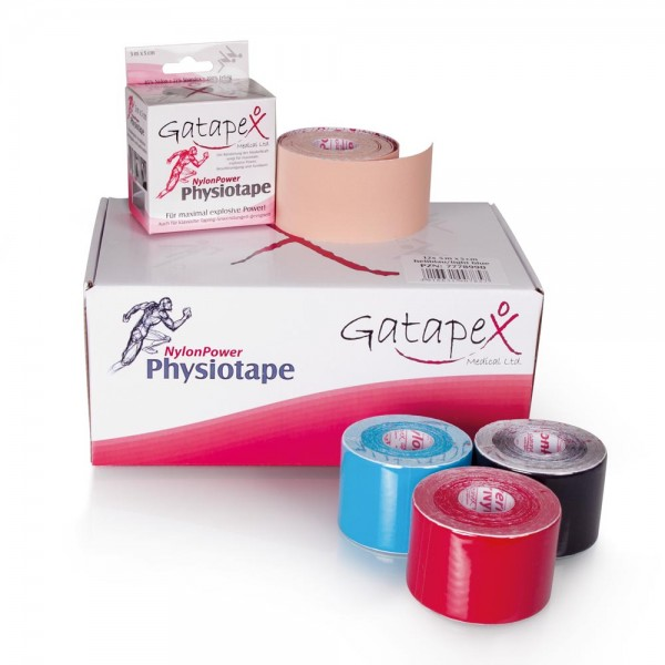 12 Rollen Gatapex Nylon Kinesiology-Tape 5cm x 5m für Kinesiology- und Power-Taping rot