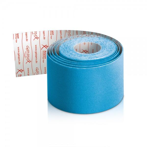NEUHEIT Gatapex Rayon Kinesiology-Tape 4m x 5cm Farbe: Hot Blue - Blau / Material-Mix aus Kunstseide und Spandex