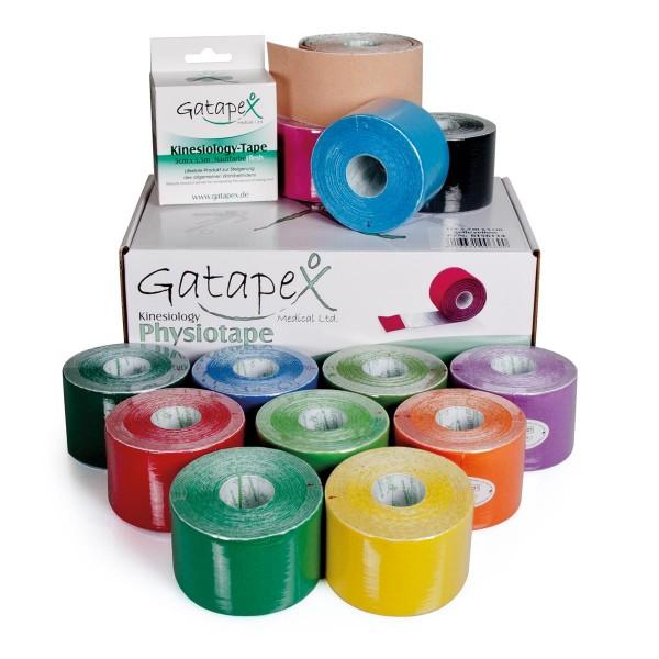 12 Rollen Gatapex Kinesiology-Tape 5cm x 5,5m schwarz Tape Tapeband