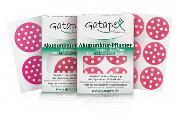2 Schachteln Akupunkturtape runde Gatapex Akupunkturpflaster 1 x 120 Stück rund pink / 1 x 40 Stück rund pink