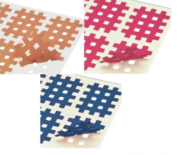 Gatapex Akupunkturpflaster gemischt (160 Gittertapes, 2.7 cm x 2.1 cm / je 40 Tapes in beige, pink, blau und weiss)