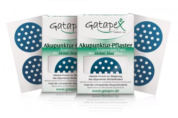 2 Schachteln Akupunkturtape runde Gatapex Akupunkturpflaster 2 x 40 Stück rund blau