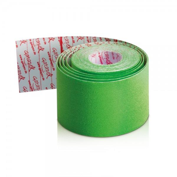NEUHEIT Gatapex Rayon Kinesiology-Tape 4m x 5cm Farbe: Hot Green - Grün / Material-Mix aus Kunstseide und Spandex