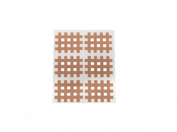 Gatapex Akupunkturpflaster beige (6 Gittertapes, 2,8 cm x 3,6 cm)