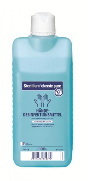 Sterillium® classic pure | Parfümfreie Händedesinfektion | 1000 ml Flasche