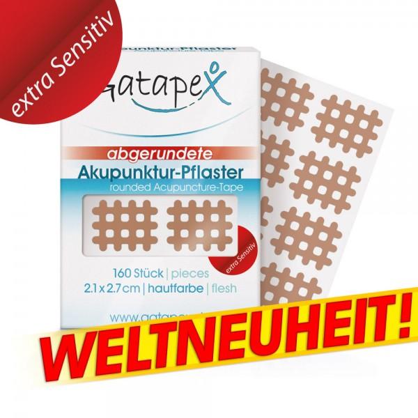 Gatapex Weltneuheit *Extra Sensitiv* Gitter Akupunktur-Pflaster flesh 160 St. 2,1 x 2,7cm mit abgerundeten Ecken hautfarbe