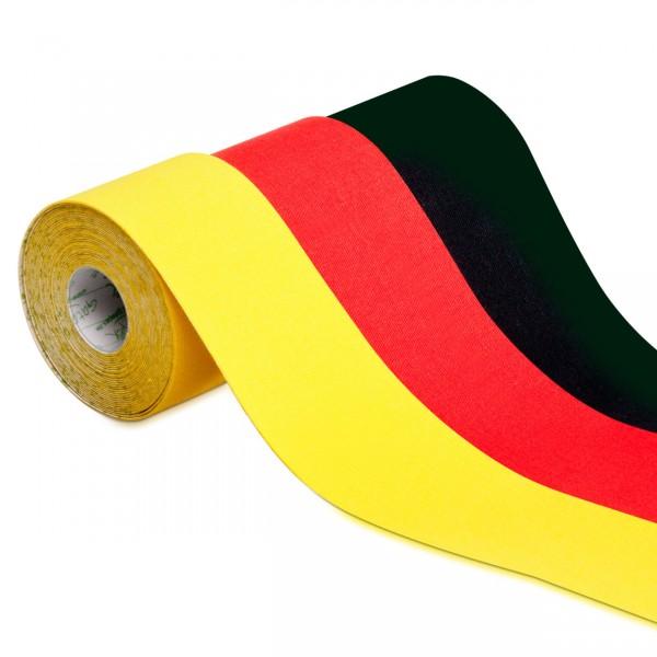 3 Rollen Kinesiologie-Tape Fanartikel schwarz-rot-gold zur EM Fußball Deutschland