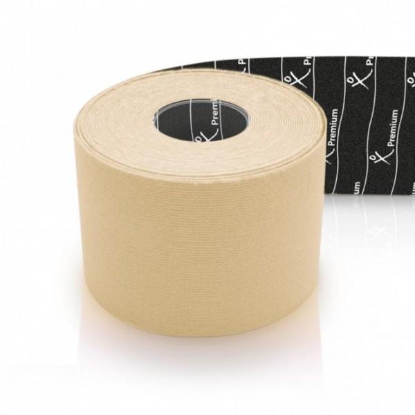 Gatapex Physiotape Kinesiology-Tape elfenbein (5 m x 5 cm) 40% dickeres Material Premiumtape